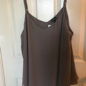 New with tags - Torrid Grey silk tank top- size 1